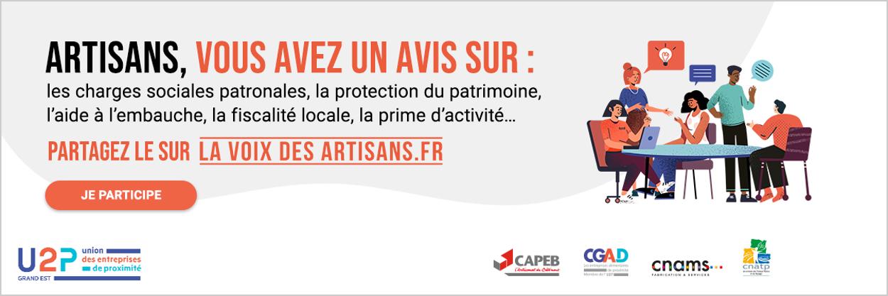 Artisans, partagez-vos avis sur lavoixdesartisans.fr